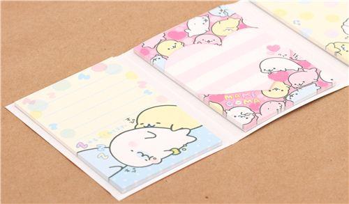 Libro mini blocs de notas focas bebé rodando de San-X Mamegoma ...