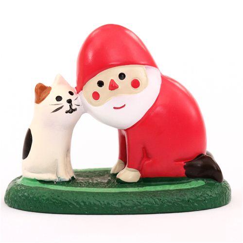 weihnachtsmann und katze weihnachts figur concombre japan. Black Bedroom Furniture Sets. Home Design Ideas