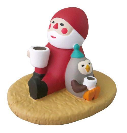 weihnachtsmann und eule mit getr nk weihnachtsfigur japan. Black Bedroom Furniture Sets. Home Design Ideas