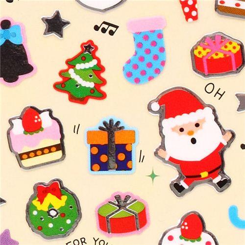 weihnachtsmann kerze geschenk weihnachts sticker aus japan. Black Bedroom Furniture Sets. Home Design Ideas