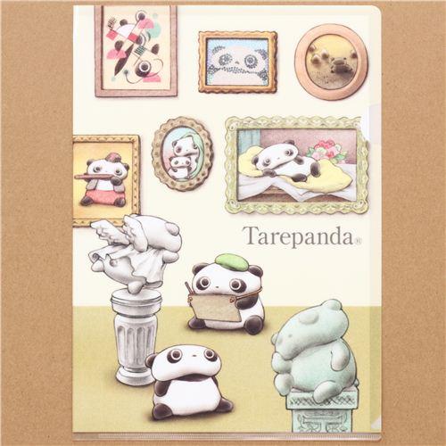 Tarepanda panda bears in the museum A4 plastic file folder ...