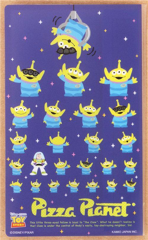 Toy Story Alien Buzz Bookmark Stickers Set 7pcs Japan 2