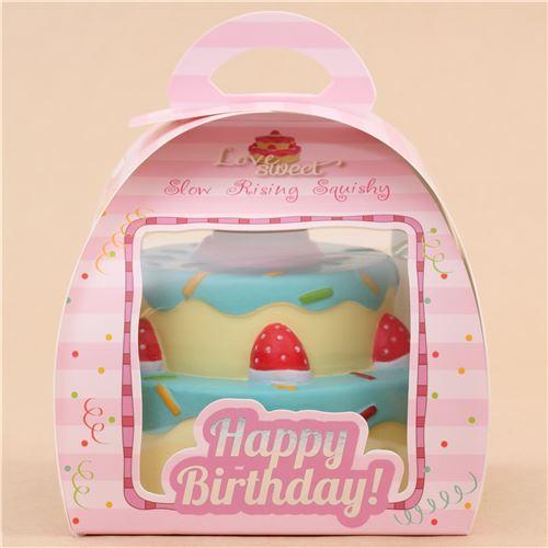 Vlampo cute happy birthday cake blue icing squishy kawaii - Food Squishy - Squishies - Kawaii ...