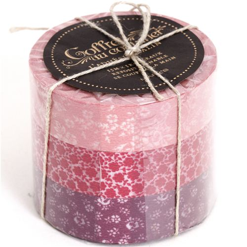 Set 3 nastri adesivi decorativi washi fiori e motivi rossi set di nastri decorativi nastri - Nastri decorativi natalizi ...