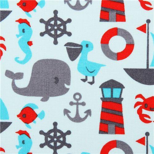 Maritime Stoffe aqua maritime fabric robert kaufman it s a shore thing sailor