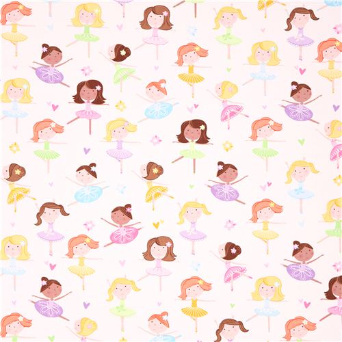 ballerina girl ballet fabric tutu cute Quilting Treasures ...