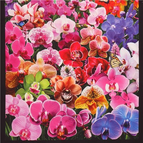 Beautiful Colorful Flowers Panel Digital Print Fabric By