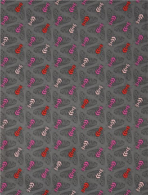 bee insect dark grey fabric by Cotton and Steel - Animal Fabric ...