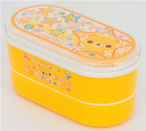 Yellow Bento Box Bear Kawaii Lunch Box - Bento Box - Bento ...