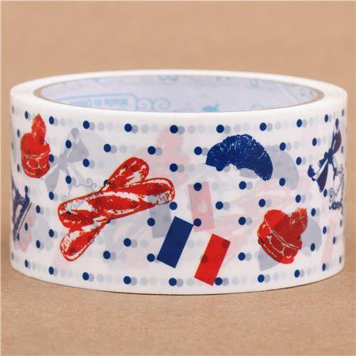 Grand ruban adh/ésif d/éco bleu-blanc-rouge avec la Tour Eiffel par Prime Nakamura