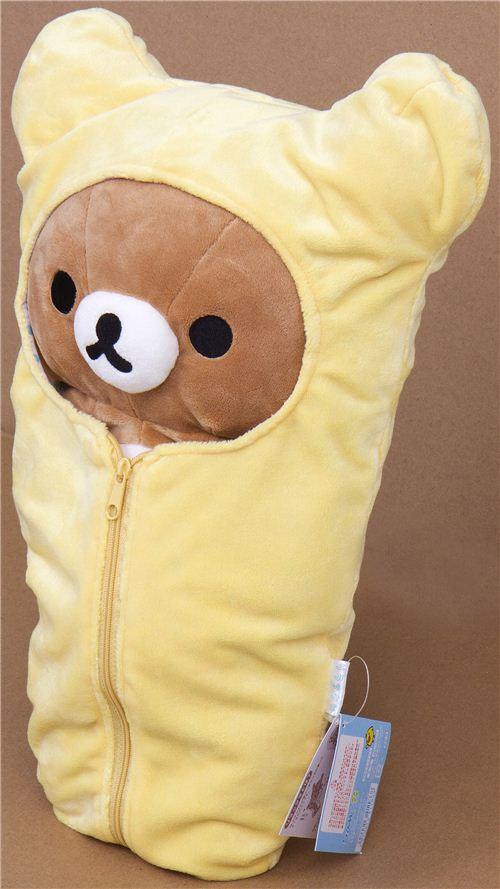 Big Rilakkuma Plush Toy Brown Bear In Sleeping Bag Plush