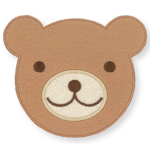 Big Brown Bear Face Iron on Transfer Sheet 1 Piece