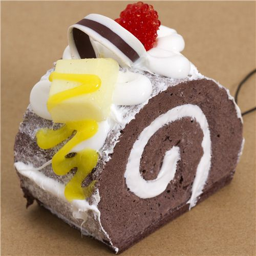 Squishy Cake Food 52 : big chocolate cake icing sugar squishy cellphone charm - Food Squishy - Squishies - Kawaii Shop ...