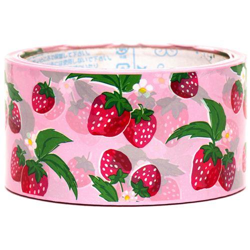 grand ruban adh sif d coratif roses avec des fraises rubans adh sifs aliments adh sifs d co. Black Bedroom Furniture Sets. Home Design Ideas