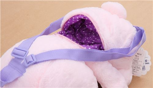 big pink bunny rabbit poteusa loppy backpack plush from