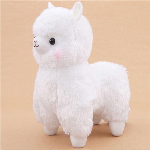big white alpaca plush toy from Japan