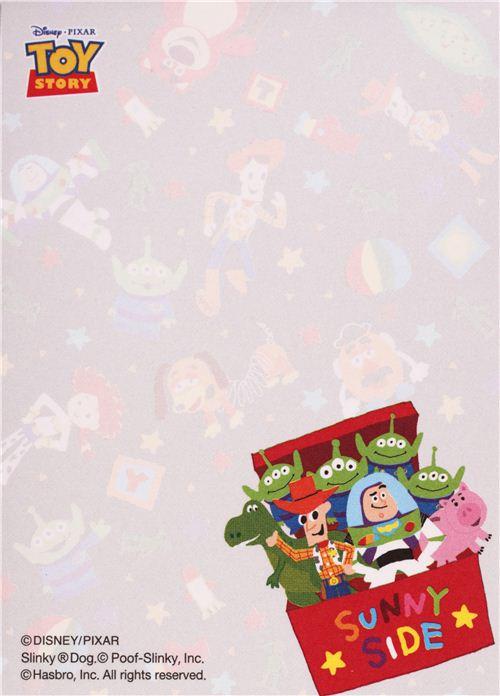 Black Disney Toy Story Toy Box Mini Memo Pad From Japan