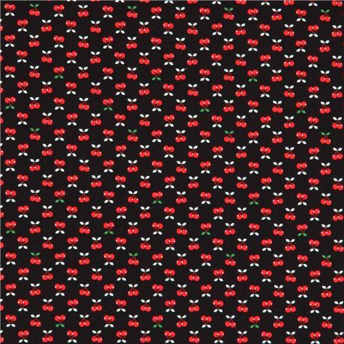 schwarzer stoff mit kleinen kirschen von robert kaufman essen stoffe stoffe kawaii shop. Black Bedroom Furniture Sets. Home Design Ideas