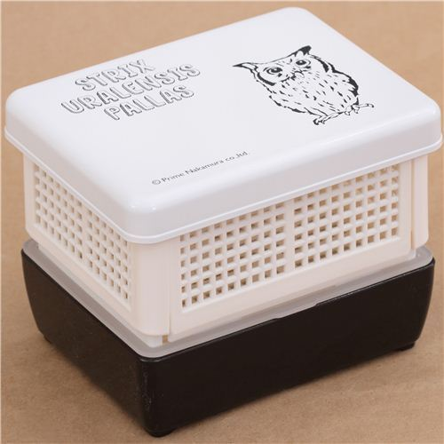 black and white owl fruit lacquer bento box lunch box from japan bentos bento boxes kawaii. Black Bedroom Furniture Sets. Home Design Ideas