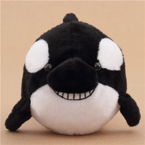 Black And White Killer Whale Plush Toy From Japan