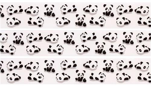 black and white panda bear animal deco tape sticky tape Japan Prime  Nakamura 2