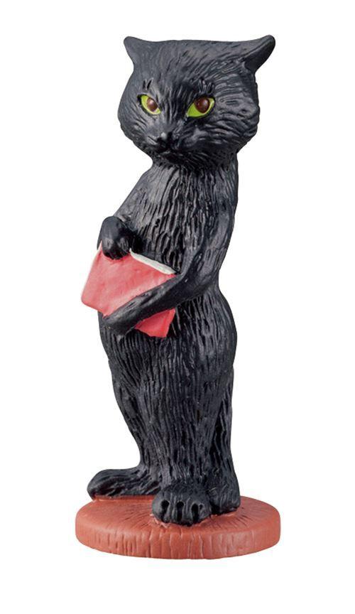 Pupazzetto Gatto Nero Libro Rosso Dal Giappone Modes4u