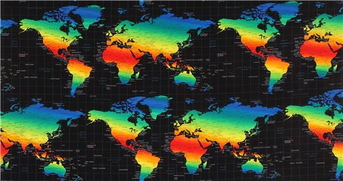 Black fabric with grid colorful world map by timeless treasures black fabric with grid colorful world map by timeless treasures 6 gumiabroncs Gallery