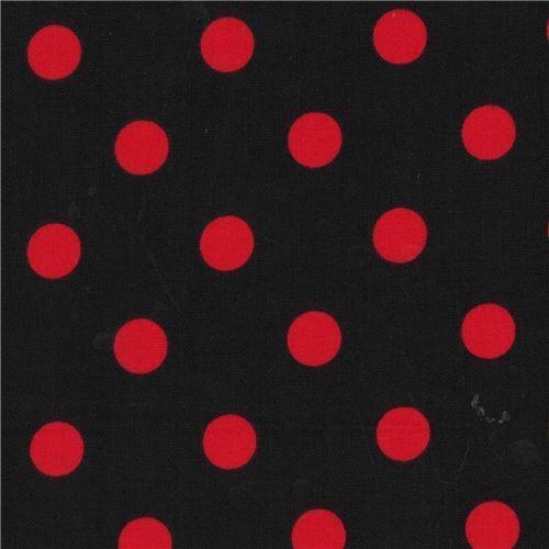 Schwarzer Stoff Mit Roten Punkten Von Michael Miller Modes4u