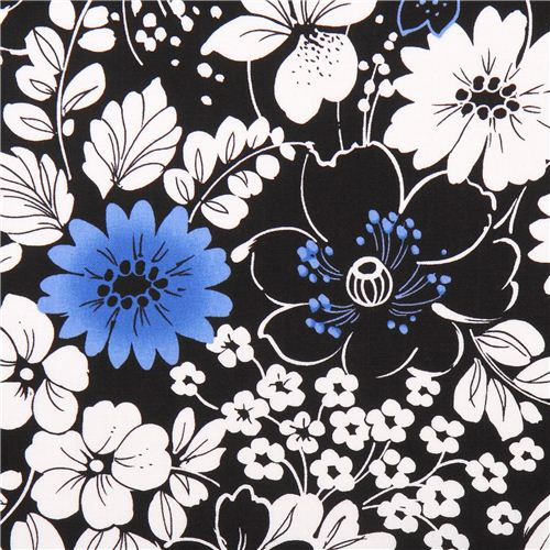 Black floral pattern flower fabric midnight quilting treasures black floral pattern flower fabric midnight quilting treasures 1 mightylinksfo