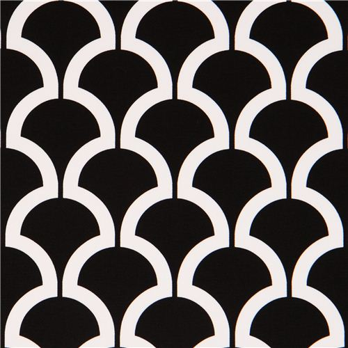 Black Pattern Cotton Sa Fabric Michael Miller