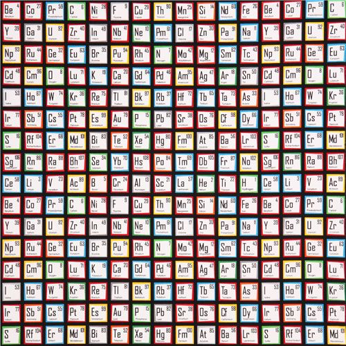 Black periodic table fabric robert kaufman science fair retro black periodic table fabric robert kaufman science fair 2 urtaz Image collections