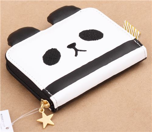 Black White Panda Face Wallet From Japan Wallets Pouches