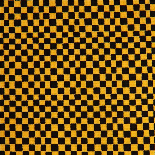 black-yellow checker fabric by Timeless Treasures USA - Dots ...