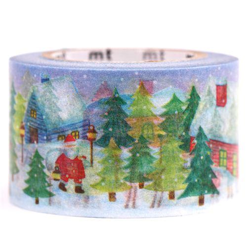 blaues weihnachts mt washi klebeband weihnachtslandschaft. Black Bedroom Furniture Sets. Home Design Ideas