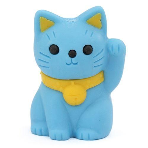 Blue Lucky Cat Eraser Maneki Neko From Japan Animal Eraser