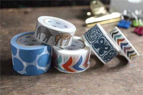 blue forest tiles mt washi tape designer deco tape washi tapes deco tapes stationery. Black Bedroom Furniture Sets. Home Design Ideas