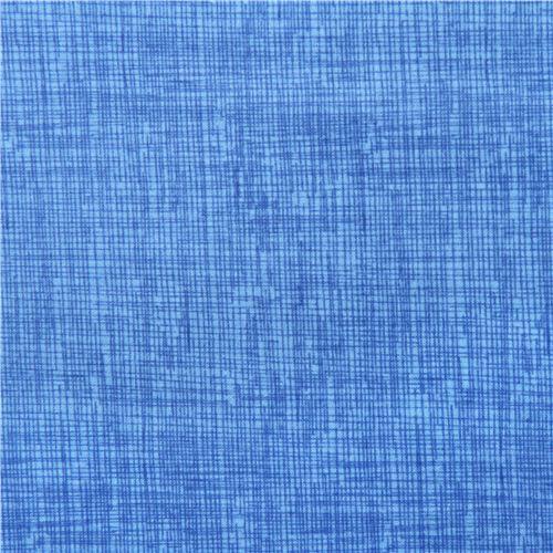 Tissu Bleu Avec Un Motif Quadrillé Dessiné Par Timeless Treasures