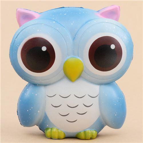 Squishy Owl : cute blue owl squishy - Animal Squishy - Squishies - Kawaii Shop modeS4u