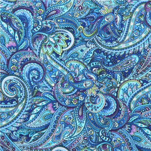 Paisley Muster Stoff : blauer paisley muster stoff timeless treasures packed ~ Watch28wear.com Haus und Dekorationen