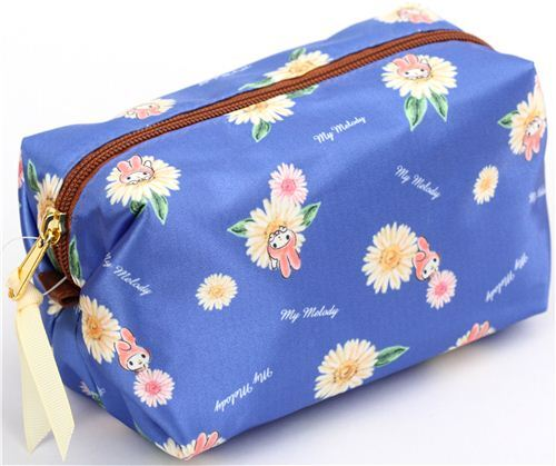 b2cccd10daa blue soft shiny My Melody flower pencil case by Kamio from Japan ...