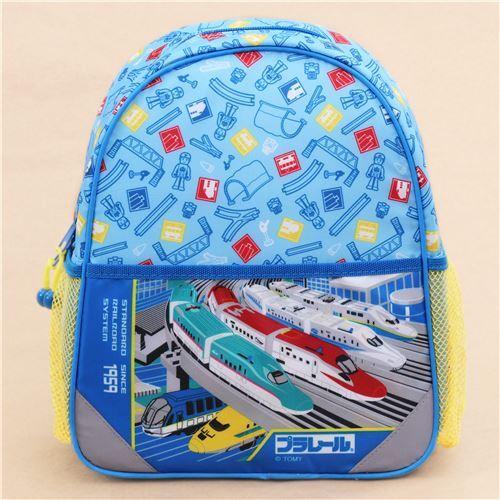 Blue Train Childrens Backpack School Bag