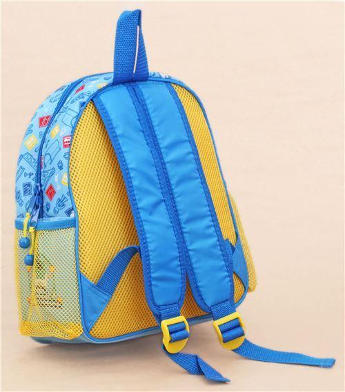 blue train childrens backpack school bag - modeS4u Kawaii Shop e3a36f6c16