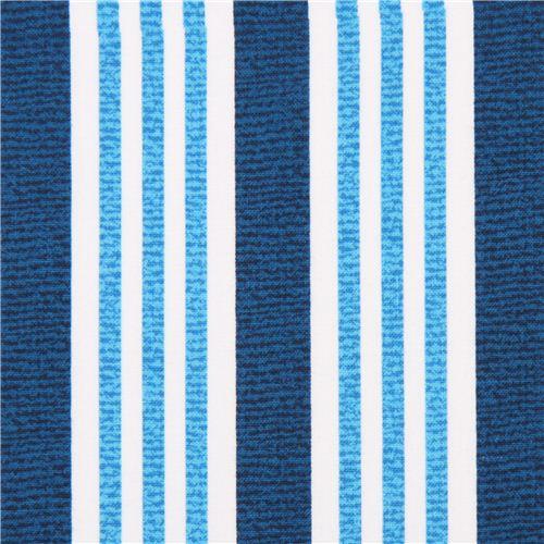 Blue White Stripe Fabric Michael Miller 1