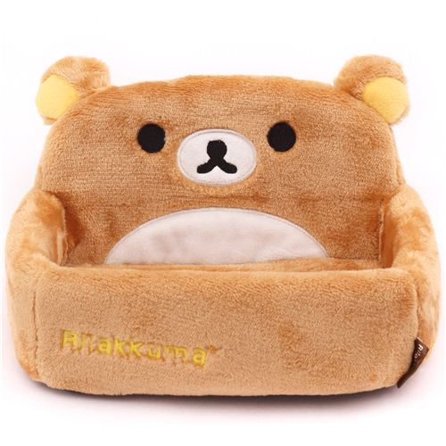 bo te de rangement support pour t l phone beige ours brun rilakkuma en peluche accessoires. Black Bedroom Furniture Sets. Home Design Ideas