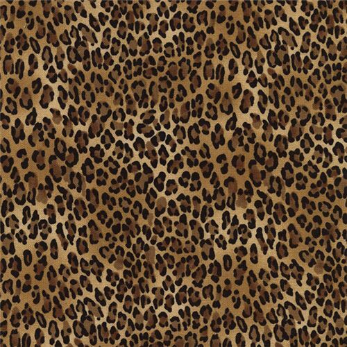 brown black small leopard print fabric timeless treasures 1 - Small Animal Pictures To Print