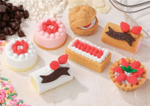 Strawberry Roll Cake Japanese Recipe: Brown Cake Roll Eraser From Japan By Iwako
