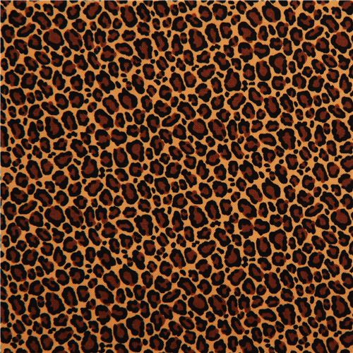 Brown Fabric With Leopard Pattern By Timeless Treasures