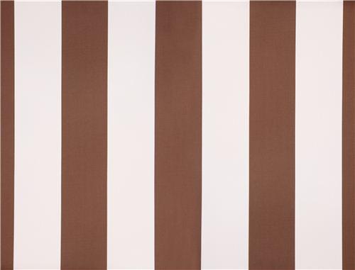 Brown Stripe Cotton Sateen Fabric Michael Miller Dots
