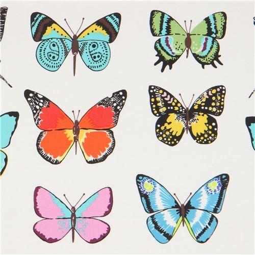 Mariposa 100/% Algodón Tela ~ azul con mariposas azul