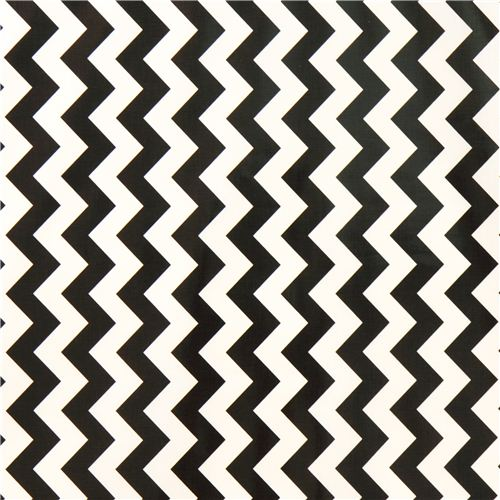 chevron muster riley blake laminat stoff schwarz wei punkte streifen karo stoffe kawaii. Black Bedroom Furniture Sets. Home Design Ideas